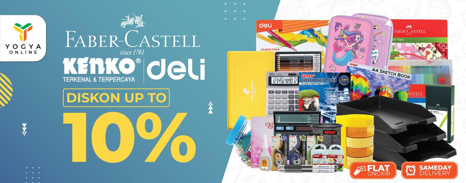 Deli, Kenko & Faber Castell