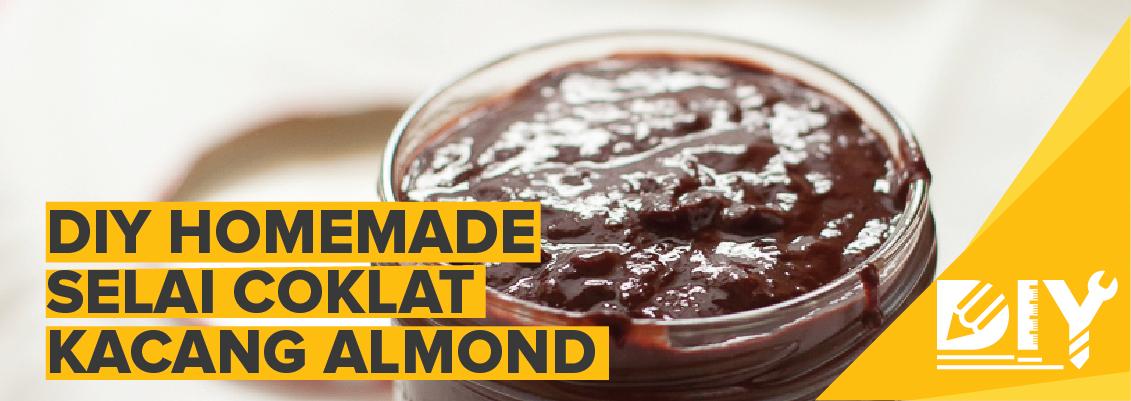 DIY Homemade Selai Coklat Kacang Almond